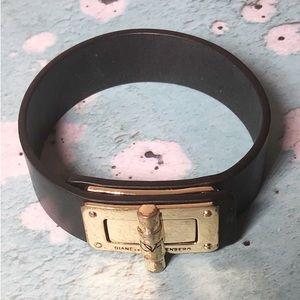Diane Von Furstenberg leather and toggle bracelet